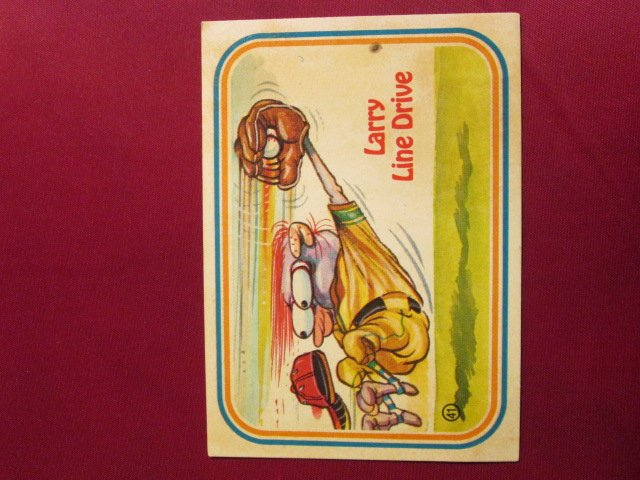 Larry Line Drive Baseball Sticker Card 99