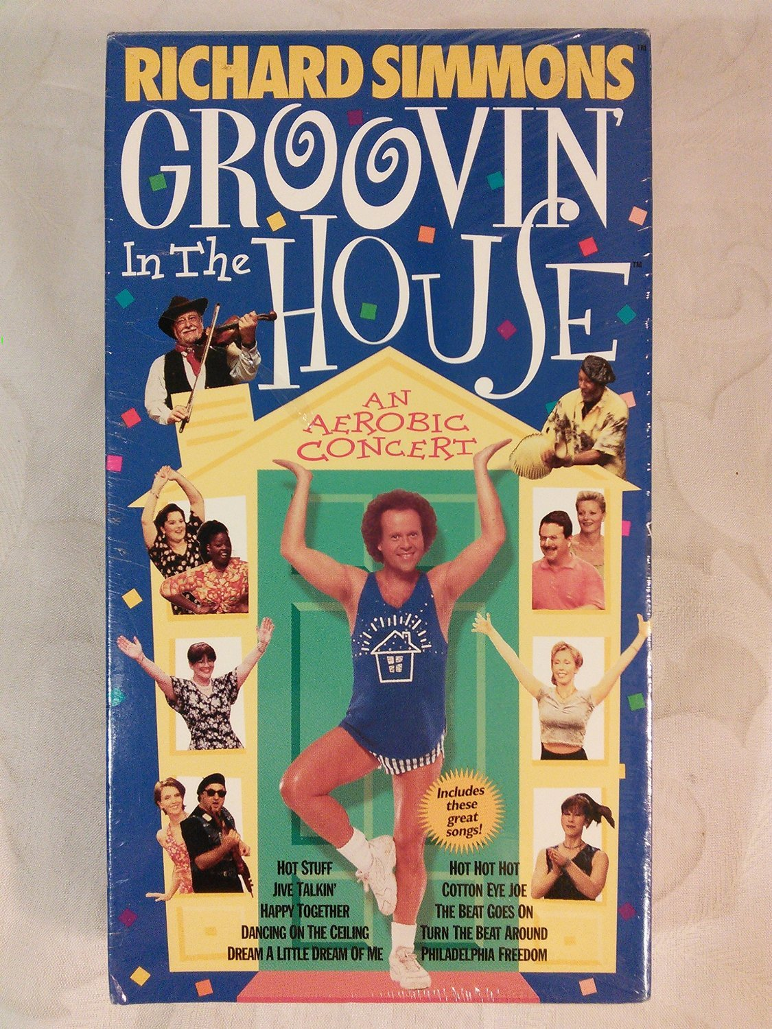 Richard Simmons Groovin' in the House - An Aerobic Concert [VHS Tape]