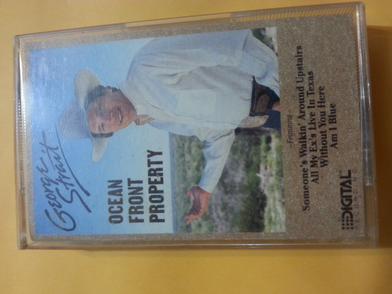 George Strait Ocean Front Property Cassette 1987