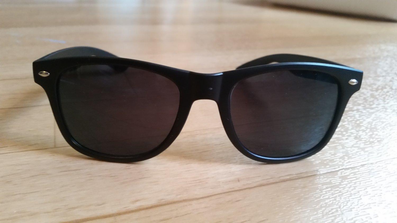 Wayfarer Style Unisex Fashion Sunglasses Black