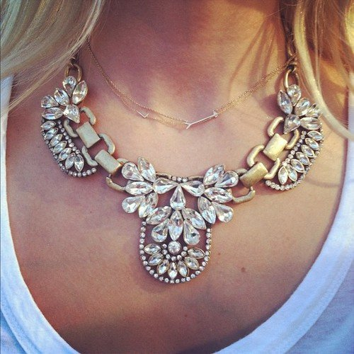 Vintage Retro Choker Style Designer Crystal Stone Party Necklace Jewelery