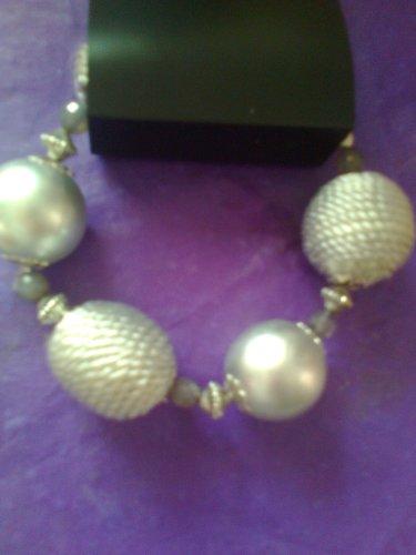 silver corded  bracelet