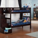 Cascade Twin over Twin Staircase Bunk Bed by Atlantic