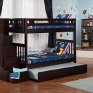 Cascade Twin over Twin Staircase Bunk Bed with Trundle by Atlantic