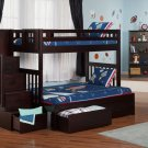 Cascade Twin over Full Staircase Bunk Bed with Drawers by Atlantic