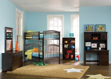 Richmond Twin over Twin Antique Walnut Bunk Bed by Atlantic
