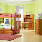 Richmond Twin over Twin Caramel Latte Bunk Bed with Raised Panel Trundle by Atlantic