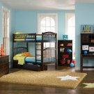 Richmond Twin over Twin Antique Walnut Bunk Bed with Flat Panel Drawers by Atlantic
