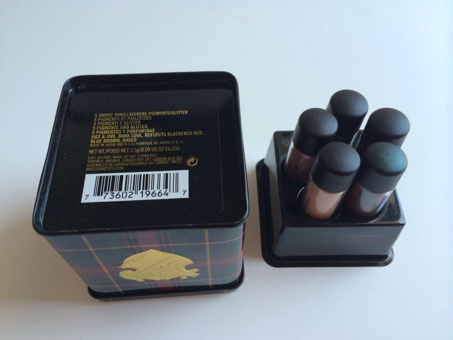MAC 5 Smoky Thrillseekers Pigments / Glitter (BNIB)