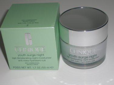 Clinique youth surge night age decelerating night moisturizer 1.7 oz / 50 ml (BNIB)