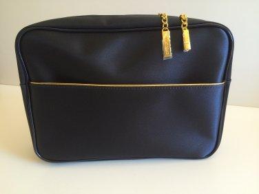 Estee Lauder Beauty Navy Satin Make up Bag