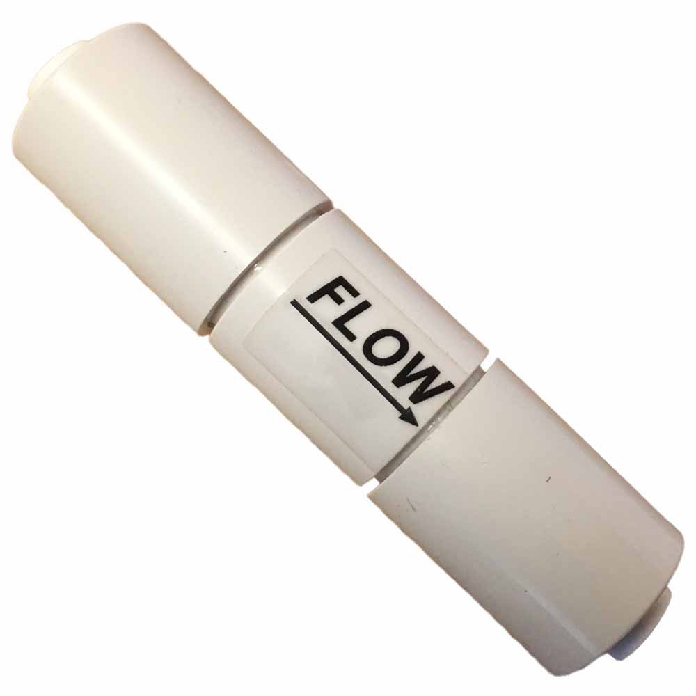 """Inline Flow Restrictor with 1/4"""""""" Quick Connect Fittings"""