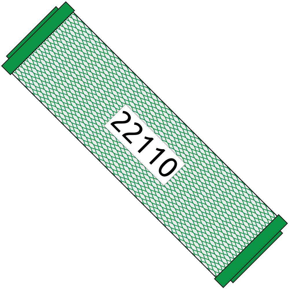 10-inch Green Carbon Filter for Small Boy #22110