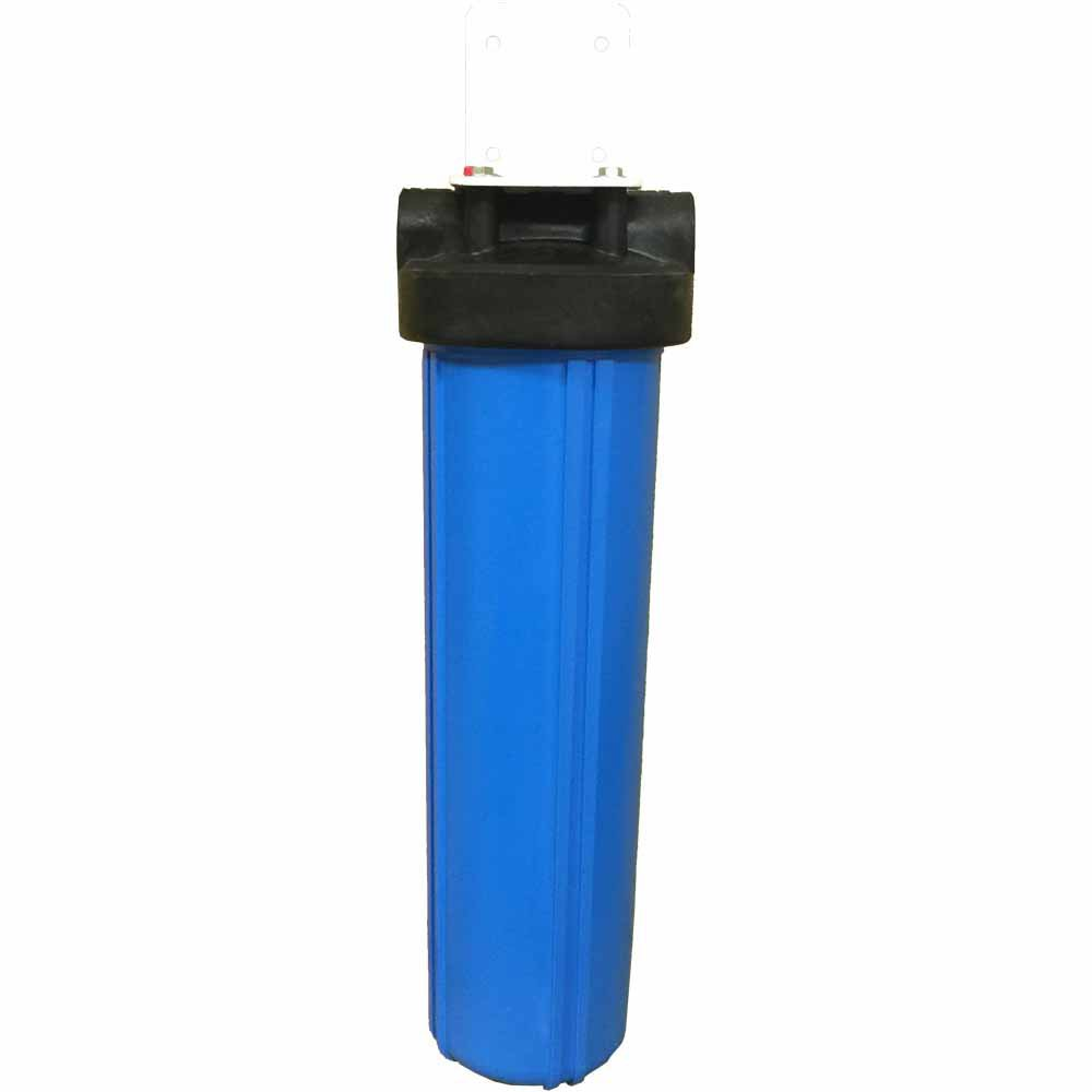 """20"""""""" Single Canister Big Blue Catalytic Carbon/KDF-85 Iron & Sulfur Whole House Filter"""