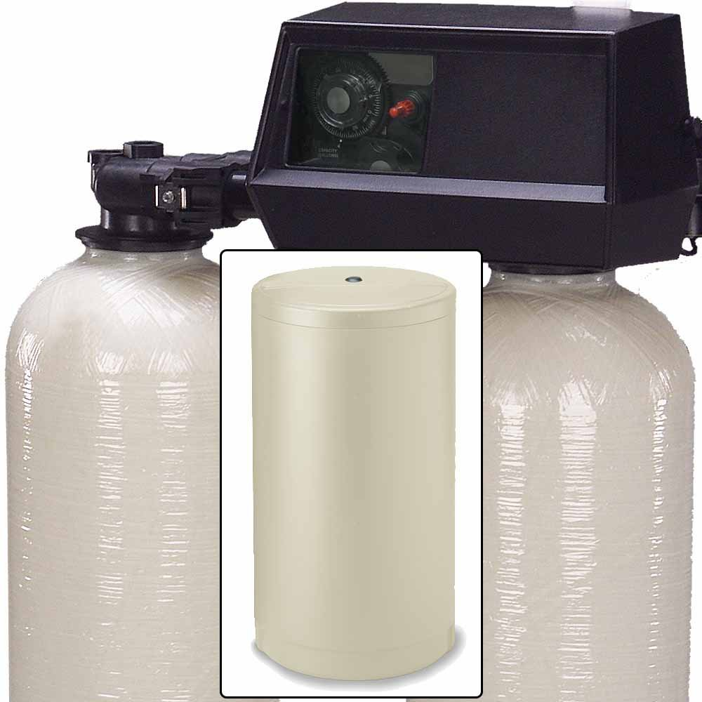 64k Dual Tank Alternating Water Softener with Fleck 9100