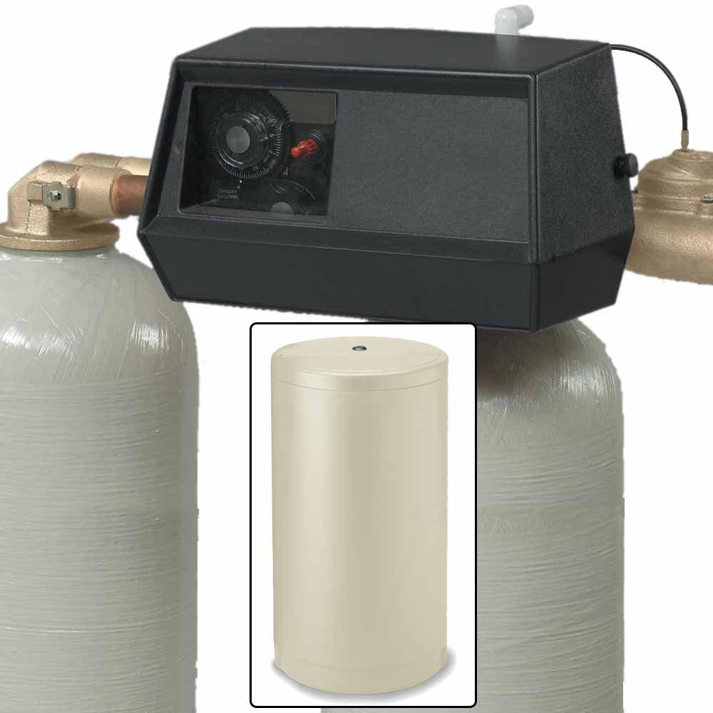 64k Dual Tank Alternating Water Softener with Fleck 9000