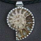 Unique Ammonite Fossil Pendant In Silver - Native American Jewelry - Tribal Jewelry