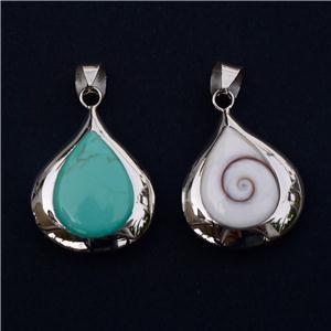 Shiva Eye Pendant - Turquoise Pendant - Tribal Jewelry - Spiritual Jewelry - Natural Jewelry