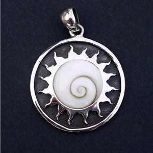 Shiva Eye Pendant - Tribal Jewelry - Spiritual Jewelry - Natural Jewelry - Nautical Jewelry