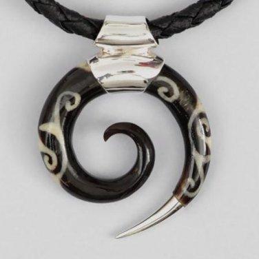 Men's Necklace - Men's Spiral Pendant - Men's Ethnic Necklace - Men's Ethnic Jewelry - Men's Jewelry