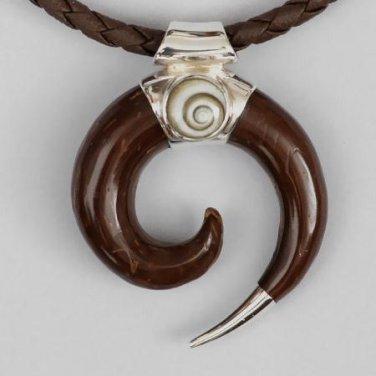 Men's Necklace - Men's Wood Necklace - Men's wood Pendant - Men's Ethnic Necklace
