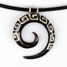 Men's Necklace - Men's Spiral Pendant - Men's Ethnic Necklace - Men's Ethnic Jewelry - Men's Jewelry