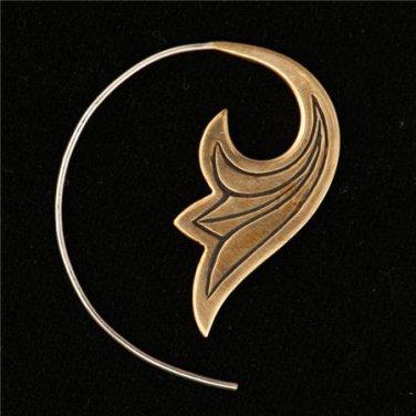 Beautiful Brass Flower Earrings - Tribal Jewelry - Native Jewery - Ethnic Jewelry