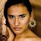 Brass Earrings - Brass Hoops - Ethnic Hoops - Gypsy Hoops - Hoops Jewelry