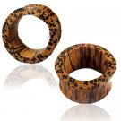 Palm Wood Tunnel - Piercing Tunnel - Ear Tunnel - Wood Plugs - Wood Tunnels