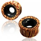 Black Wood Tunnel - Piercing Tunnel - Ear Tunnel - Wood Plugs - Wood Tunnels
