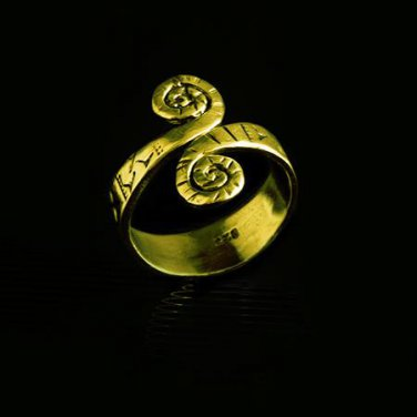 Beautiful And Unique Brass Ring - Tribal Jewelry - Ethnic Jewelry - Unisex Jewelry