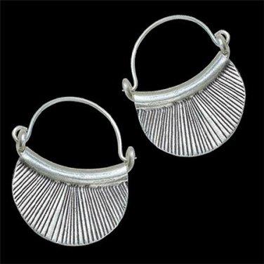 Silver Earrings - Silver Hoops - Ethnic Hoops - Gypsy Hoops - Ethnic Earrings - Ethnic Jewelry