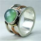 Classic Silver And Green Aventurine Ring - Tribal Jewelry - Ethnic Jewelry - Gemstone Jewelry
