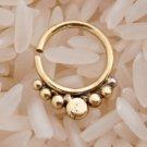 Unique Brass Septum For Pierced Nose - Septum Jewelry - Indian Nose Ring - Ethnic Septum