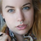 Fake Septum Ring - Faux Septum Ring - Fake Septum Piercing - Nose Jewelry - Septum Jewelry