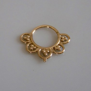 18k Septum Ring - Septum Jewelry - Septum Piercing - Septum Cuff