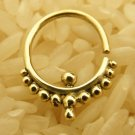 14K Septum Ring - Septum Jewelry - Septum Piercing - Septum Cuff - Indian Nose Ring