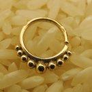 18k Septum Ring - Septum Jewelry - Septum Piercing - Septum Cuff - Indian Nose Ring