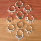 Assorted Silver Septums Package - Septum Ring - Septum Jewelry - Septum Piercing -