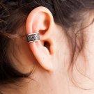 Silver Ear Cuff - Ear Wrap - Fake Ear Cuff - Earcuff Jewelry - Cuff & Wrap Earrings