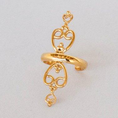 Gold Ear Cuff - Ear Wrap - Fake Ear Cuff - Earcuff Jewelry - Cuff & Wrap Earrings - Wrap Earrings