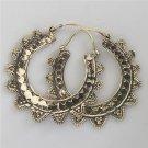 Brass Earrings - Brass Hoops - Brass Tribal Earrings - Hoops Jewelry - Brass Jewelry