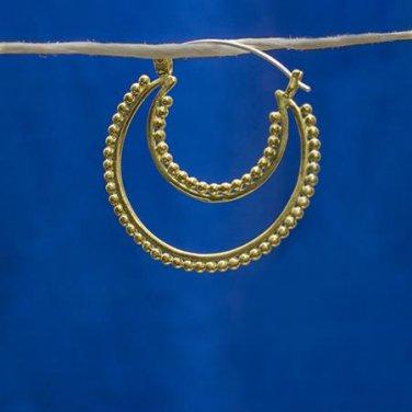 Brass Earrings - Hoops Earrings - Brass Hoops - Brass Jewelry - Shape Earrings - Native Jewery