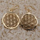 Flower Of Life Earrings - Brass Earrings - Energy Jewelry - Brass Jewelry