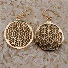 Flower Of Life Earrings - Brass Earrings - Energy Jewelry - Brass Jewelry
