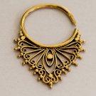 Brass Earrings - Brass Hoops - Brass Tribal Earrings - Hoop Jewelry - Brass Jewelry