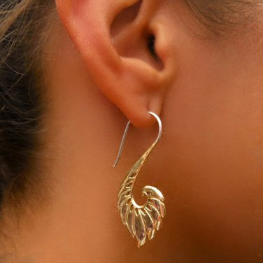 Brass Earrings - Hook Earrings - Tribal Jewelry - Hook Piercings - Brass Jewelry