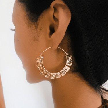Brass Earrings - Brass Hoops - Ethnic Hoops - Gypsy Hoops - Ethnic Earrings - Hoops Jewelry