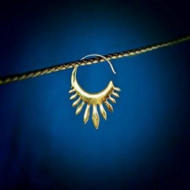 Brass Earrings - Brass Hoops - Gypsy Hoop - Hoops Jewelry - Brass Jewelry - Ethnic Earrings