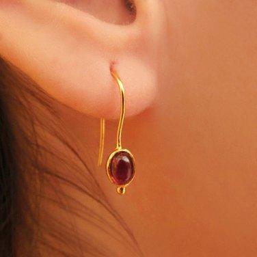 Elegant 18k Gold Sugilite Earrings - One Of A Kind - Statement Earrings - Gold Jewelry